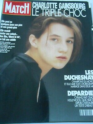 Couverture Covert 1991 Charlotte Gainsbourg le triple choc