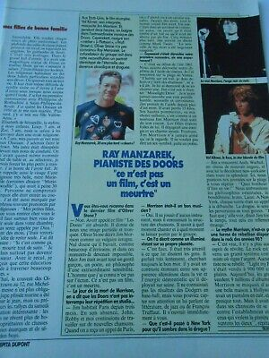 Clipping Coupure Presse 1991 Ray Manzarek Pianiste des Doors