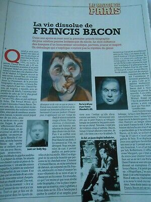Clipping Coupure de Presse 1994 La Vie dissolue de Francis Bacon