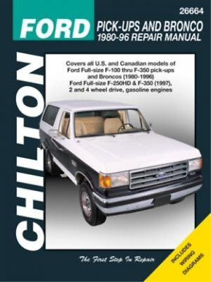Ford Pick-Ups & Bronco (87-96) (Uk Import) Book New