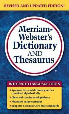 Merriam-Webster's Dictionary and Thesaurus by Merriam-Webster Inc. 9780877798637