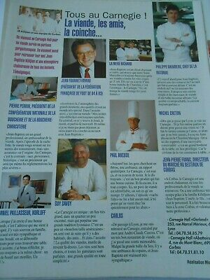Clipping Coupure de Presse 1997 Paul Bocuse Philippe Gauvreau Guy Savoy