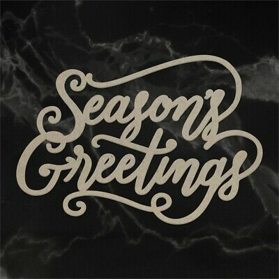 Couture Creations Naughty Or Nice Chipboard-seasons Greetings
