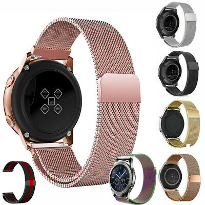 For Samsung Galaxy Watch 46mm 42mm Active 40mm Bands Stainless Steel Metal Strap