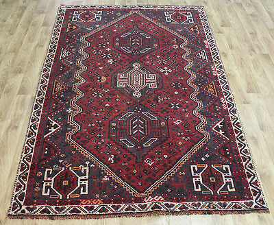 Old South West Persian Rug With Triple Medallions 250 X 160 Cm