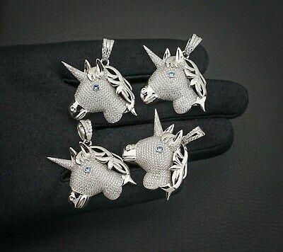 Wonderful Horse Pendant with Blue Eye - Solid 925 Sterling Silver - A187