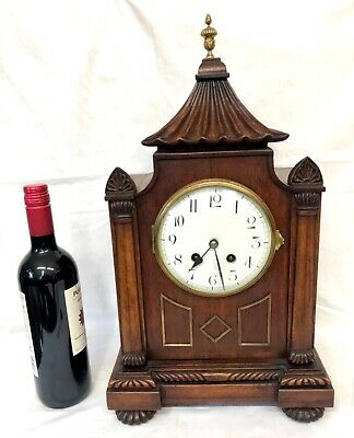 Antique Victorian French Mahogany Bracket Mantel Clock
