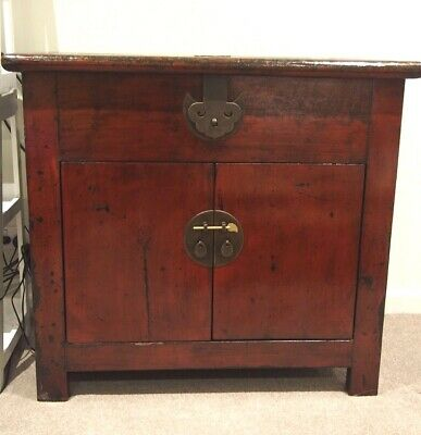 Antique Chinese Cabinet, Rustic Asian Style Great for TV, AV, Media - Melbourne