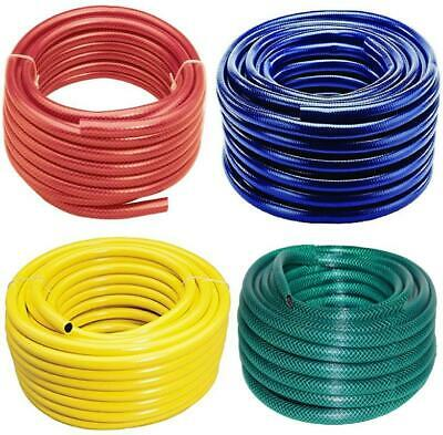 15M 20M 30M 50M No Kink Reinforced Tough Garden Hose Reel Pipe Water Hosepipe