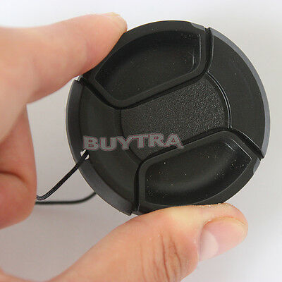 49mm Center Pinch Snap on Front Cap Cover For Sony Canon Nikon Lens Filter VG