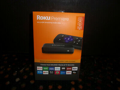 Roku Premiere 3920R Quad Core HD 4K HDR Streaming Media Player *Brand New*