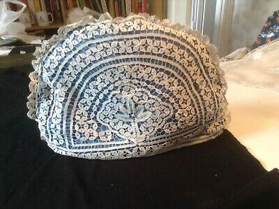 Vintage Tea Cosy With Delicate Cream Lace Cover.