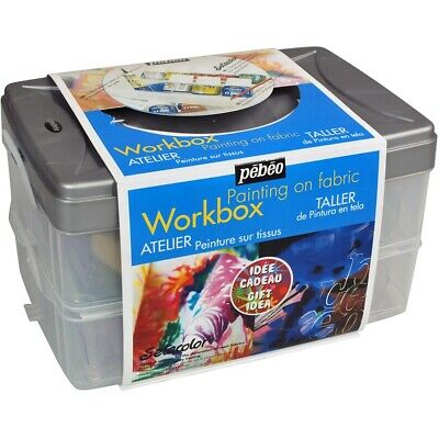 Setacolor Opaque Colors For Fabric Workbox Set 15/pkg-studio Collection