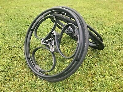 """A pair of Loopwheels, wheels for wheelchairs. Size 24"""" fitted with tyres & tubes"""