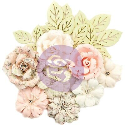 Prima Marketing Poetic Rose Paper Flowers 14/pkg-enchanted W/glitter Accents