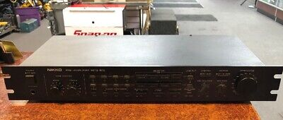 Nikko Beta 50 Ii Solid State Vintage Rack Stereo Rca Pre-Amplifier Tested