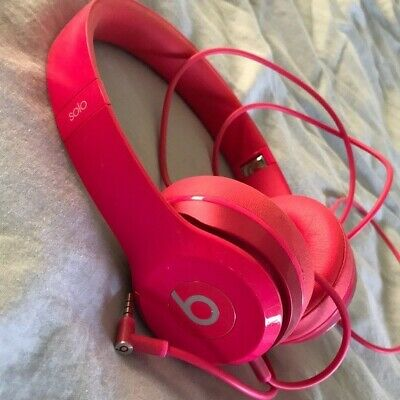 Beats by Dr. Dre Solo HD Headband Headphones - Hot Pink