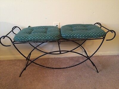 vintage wrought iron Vanity Bench