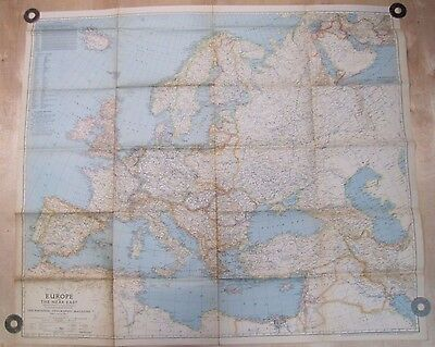 1943 EUROPE And The NEAR EAST World Map