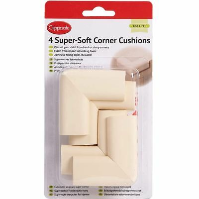 Clippasafe SUPER-SOFT CORNER CUSHIONS 4 PACK Baby Child Safety BN