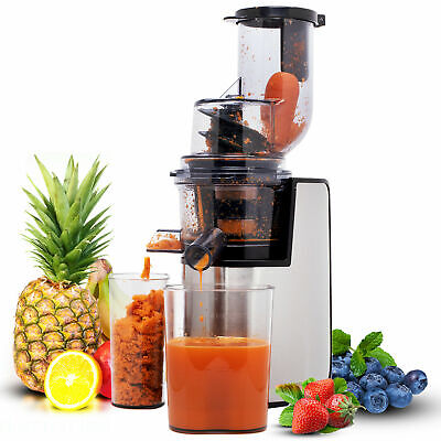 Geepas Slow Masticating Juicer Machine Cold Press Whole Fruit & Veg Extractor