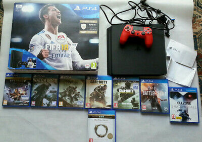 Sony PlayStation 4 Slim 500 gb ps4 Console slim pad controller bundle collection