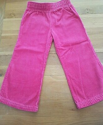 Girls Toddlers Pink Corduroy Trousers Age 2 Elastic Waist