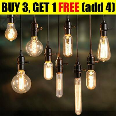 E27 Vintage Retro Filament Edison Screw Antique Industrial LampLight Bulb 40W SW