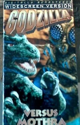 'GODZILLA VS MOTHRA' -- RARE Widescreen VHS!!! Digitally Remastered!!