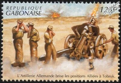 WWII 1941 North Africa: German Artillery Fires on Tobruk Allied Positions Stamp