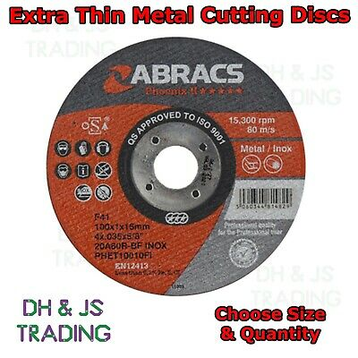 Extra Thin Metal Cutting Discs 1mm For Stainless Steel Angle Grinder Disc
