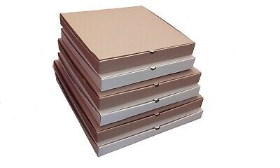 "Plain Pizza,Takeaway Boxes, Premium Quality Light Postal Boxes 16"" 18"" & 20 inch"