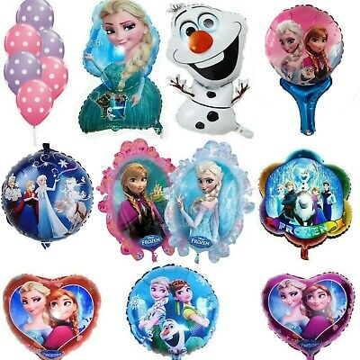 Frozen Large Elsa Anna Foil Helium Latex Birthday Party Balloons Decorations