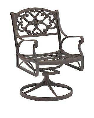 Rust Brown Aluminum Patio Rocking Chair Traditional Home Living Garden Furniture