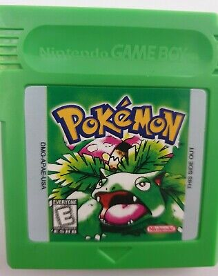 Pokemon Green Version Nintendo Game Boy Colour GBC GBA SP UK seller Red Yellow