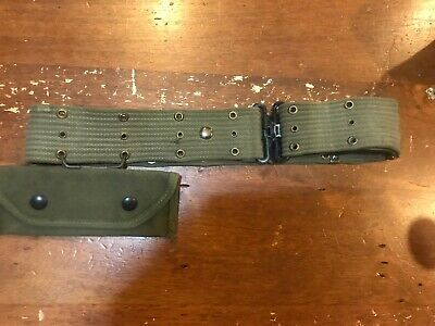 wwii m1936 pistol belt and grenade launcher sight pouch