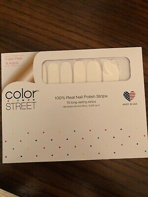 COLOR STREET Nail Strips Swiss And Tell (White) - New Summer POP Collection