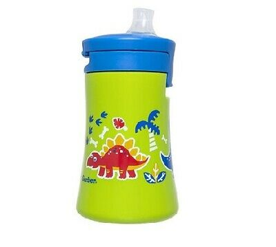 Gerber Graduates Baby Baby 1-Piece Dino Green Cup w/Built-In Valve Size 9M+