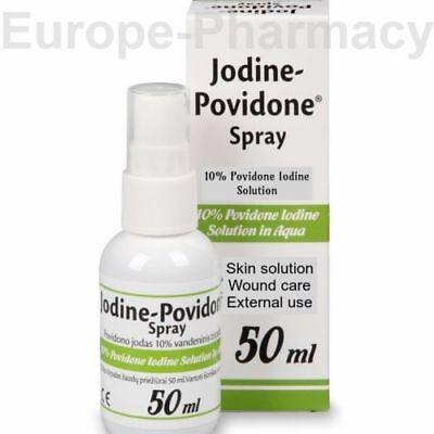 IODINE BETADINE SPRAY -Wound Care, Antiseptic, Skin Infections, Burns- First Aid