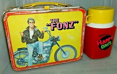 RARE 1978 The Fonz Happy Days Metal Lunch Box & Thermos TV Show Lunchbox Aaaaay!