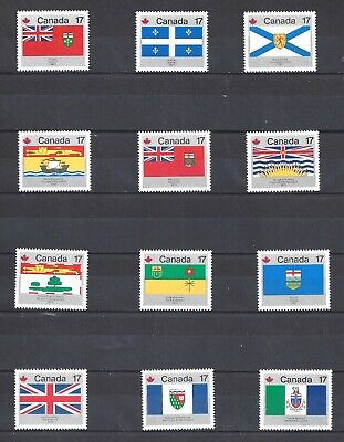 Canada Provincial Territorial Flags Scott 821-832 Vf Mint Nh (Bs13203)
