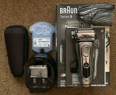 Braun Series 9 9290cc Silver Electric Shaver Travel Case & Clean Charge Station