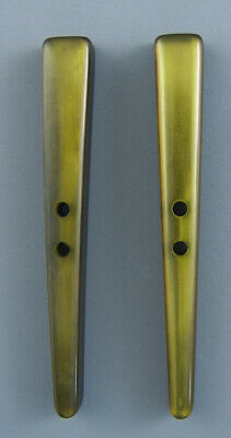 Long  Tapered Olive Green Toggle For Sewing And Knitting - Set Of 2
