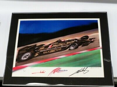 Mario Andretti SIGNED  LTD ED. FORMULA 1 Art Print by MICHAEL SAVAGE