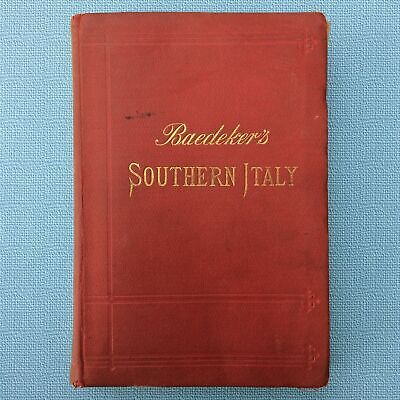 1903 Travel Guide Book, Including Maps, Baedeker's Southern Italy And Sicily