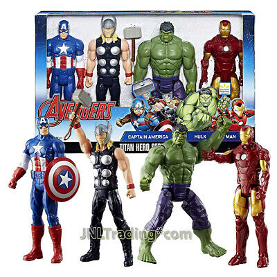 Marvel Titan Hero 12 Inch Figure Set - Captain America, Thor, Hulk and Iron Man