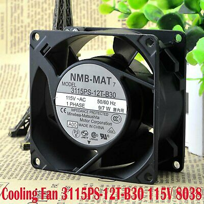 3200rbm NMB Heat Resistant Cooling Fan 3115PS-12T-B30 115V 8038 80*80*38mm 7/9W