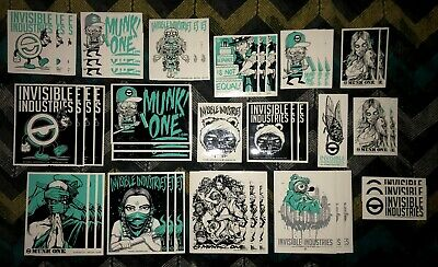 Invisible Industries Munk One (45) Sticker Lot
