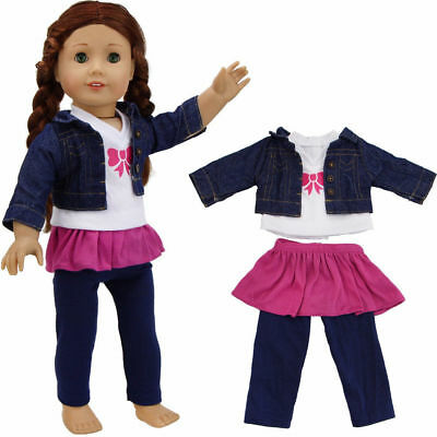 "18"" 45cm Reborn Dolls Clothes Outfits Fashion DIY Handmade Girls Suits Toy Dress"