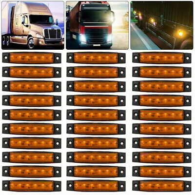 30X 12V 12 Volt SMD 6 LED Amber/Orange Side Marker Light Trailer Van Bus